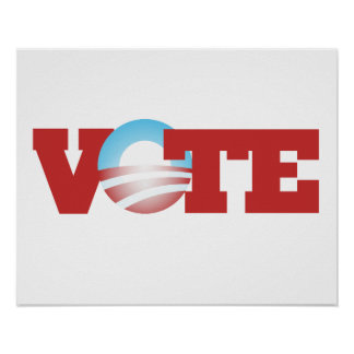 Voto Obama 2012 Póster