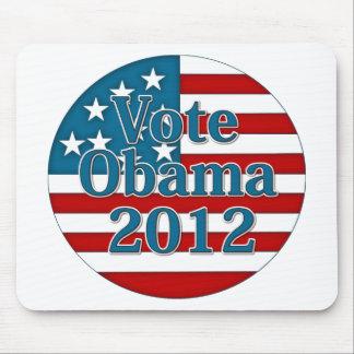 Voto Obama 2012 Alfombrillas De Ratón