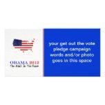 Voto Obama 2012 Tarjetas Con Fotos Personalizadas