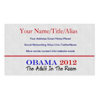 Voto Obama 2012 Tarjetas De Visita