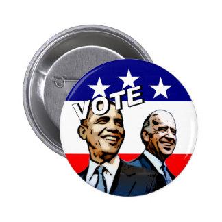 Voto Obama Biden en 2008 Pin Redondo 5 Cm