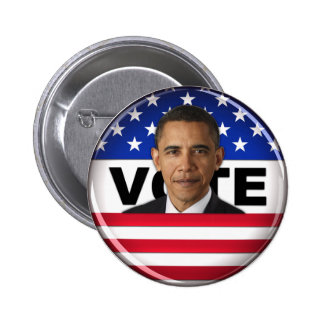 Voto Obama - botón Pin Redondo De 2 Pulgadas