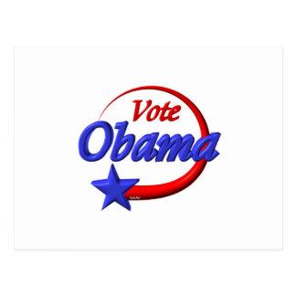 Voto Obama en 2012. Cree el futuro Tarjeta Postal