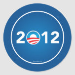 Voto Obama en 2012 Pegatinas Redondas