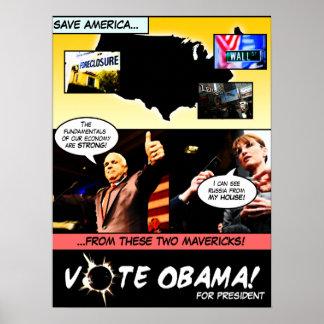 ¡VOTO OBAMA! Historieta P de la elección… - Modifi Póster