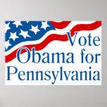 Voto Obama para el poster de Pennsylvania