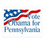 Voto Obama para Pennsylvania Postales