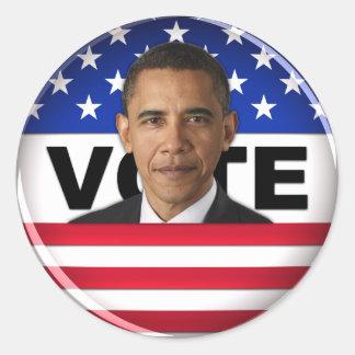 Voto Obama Pegatinas Redondas