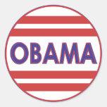 ¡Voto Obama! Pegatinas Redondas