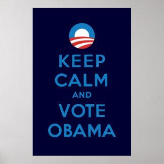 Voto Obama Póster