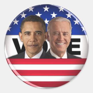 Voto Obama y Biden Pegatina