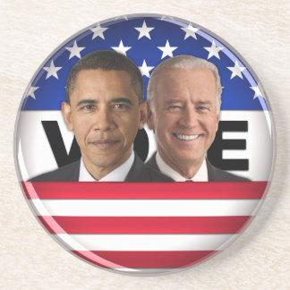 Voto Obama y Biden Posavasos Diseño