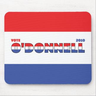 Voto O'Donnell 2010 elecciones blanco y azul rojos Alfombrillas De Ratón