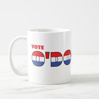 Voto O'Donnell 2010 elecciones blanco y azul rojos Taza