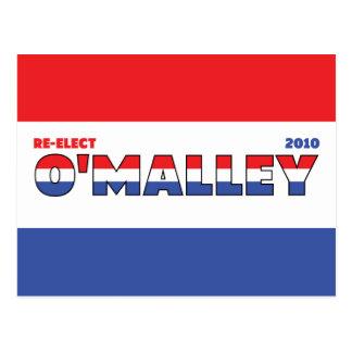 Voto O'Malley 2010 elecciones blanco y azul rojos Tarjeta Postal