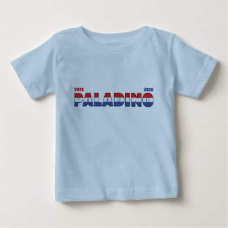 Voto Paladino 2010 elecciones blanco y azul rojos Playera De Bebé