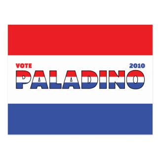Voto Paladino 2010 elecciones blanco y azul rojos Postal