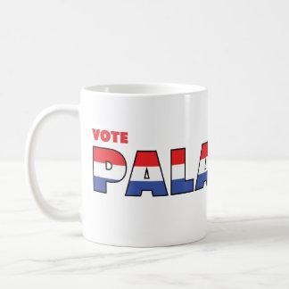 Voto Paladino 2010 elecciones blanco y azul rojos Taza