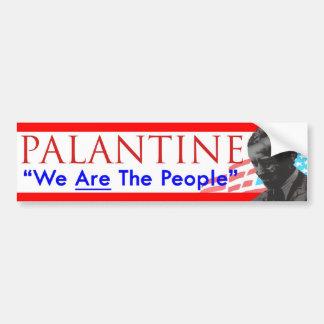 Voto Palantine de la decisión 2012 somos la gente Etiqueta De Parachoque