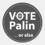 Voto Palin… o bien Etiquetas Redondas