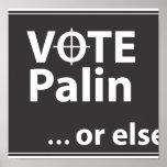 Voto Palin… o bien Posters