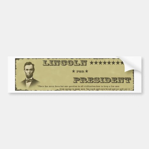 ¡Voto para Abraham Lincoln siguiente! Pegatina De Parachoque