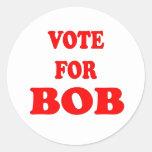 Voto para Bob - Bob Katter, político australiano Pegatinas Redondas
