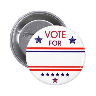 Voto para, botón pin redondo de 2 pulgadas