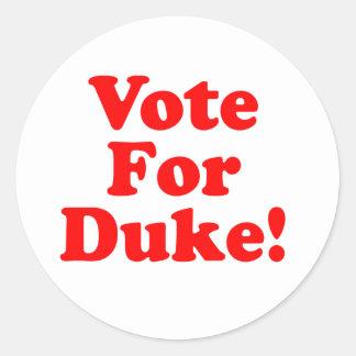 Voto para duque Phillips Sticker Pegatina Redonda