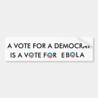 Voto para Ebola Pegatina Para Auto