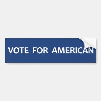 Voto para el americano pegatina de parachoque