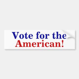 Voto para el americano pegatina para auto