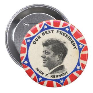 Voto para el botón de la elección de Kennedy Pin