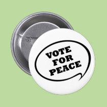 Voto para el botón de la paz botones