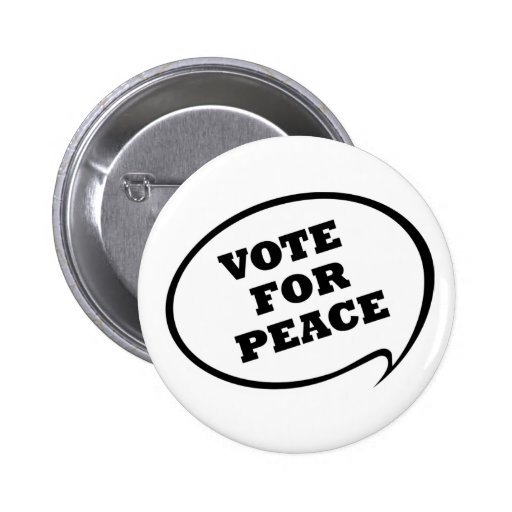 Voto para el botón de la paz pins