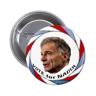 Voto para el botón de Nader Pins