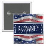 Voto para el botón de Romney 2012 Pin