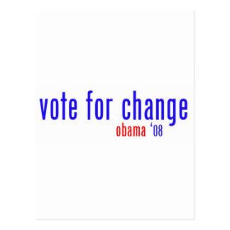 voto para el cambio postales