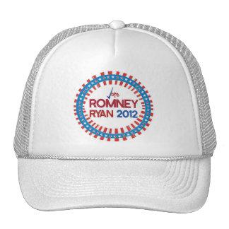 Voto para el casquillo de Romney Ryan 2012 Gorras