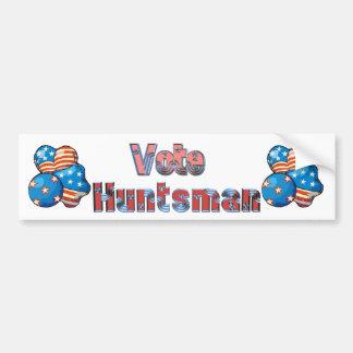 Voto para el Huntsman de Jon Pegatina Para Auto