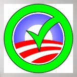 voto para el icono del poster de obama