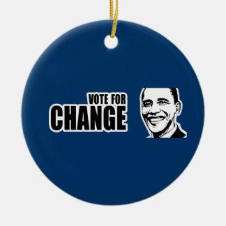 Voto para el parachoque 5 copy.png de Obama del ca Ornamento De Navidad