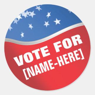Voto para - el pegatina de encargo de la elección