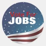 Voto para el pegatina de los trabajos