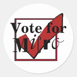 Voto para el pegatina micro