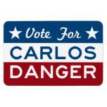Voto para el peligro de Carlos Imanes Rectangulares