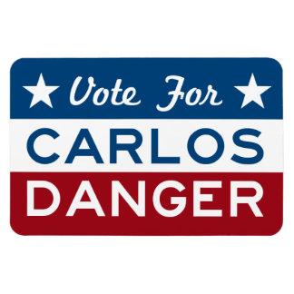 Voto para el peligro de Carlos Iman Rectangular