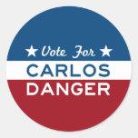 Voto para el peligro de Carlos Pegatina Redonda
