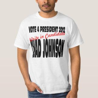 Voto para el presidente 2012 de Chad Johnson Playera
