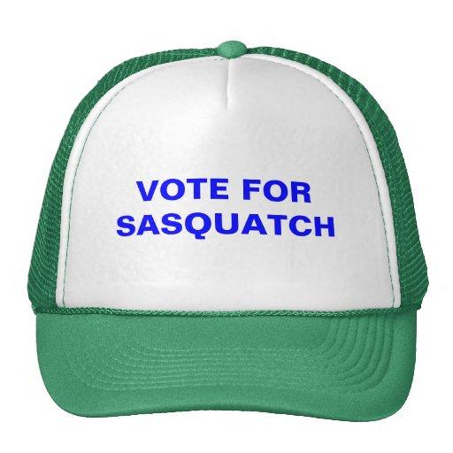 voto para el sasquatch gorras de camionero